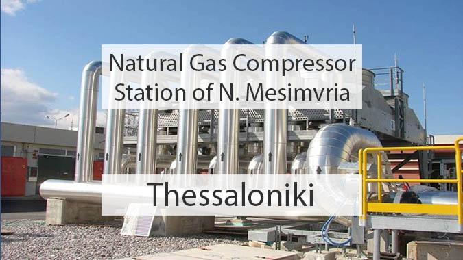 Natural Gas Compressor Station Of N Mesimvria